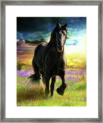 Framed Print featuring the digital art  Darkness Descending by Trudi Simmonds