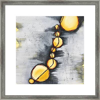 Framed Print featuring the painting Darkness Failing by Mary Rimmell