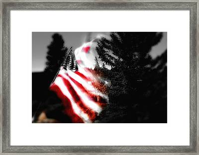 Darkness Falling On Freedom Framed Print by Donna Blackhall
