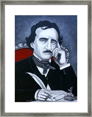 Framed Print featuring the painting Darkness In The Mind And The Pen by Al  Molina