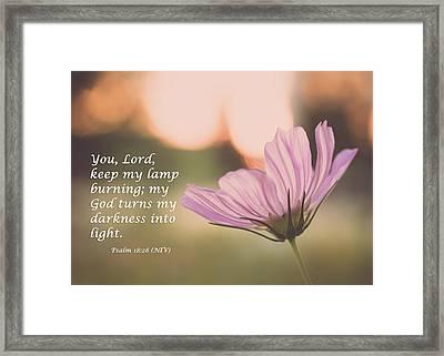 Darkness Into Light Framed Print