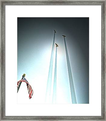 Darkness Into Light Framed Print by Terence McSorley