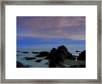 Darkness Of The Day Framed Print by Amanda Vouglas