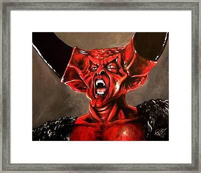 Darkness Framed Print by Tom Carlton