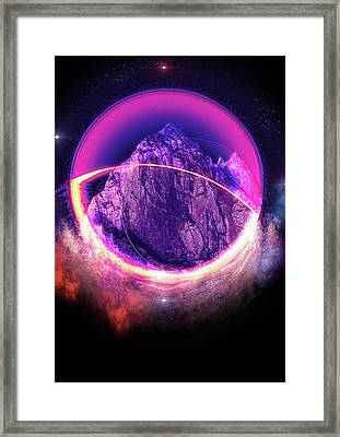 Darkside Of The Moon Framed Print