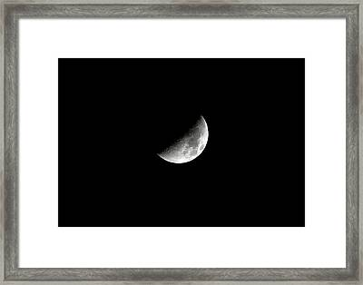 Darkside Of The Moon Framed Print by Richard Newstead
