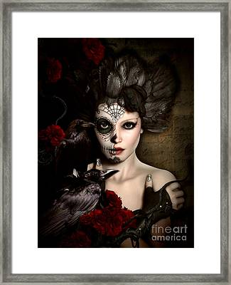 Darkside Sugar Doll Framed Print by Shanina Conway