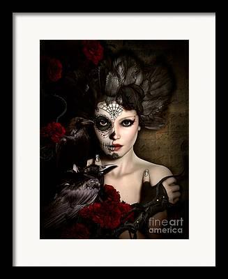 Portrait Of Woman Digital Art Framed Prints