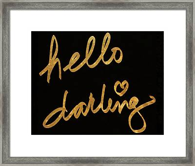 Darling Bella I Framed Print by South Social Studio