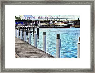 Darling Harbour Shoreline Framed Print