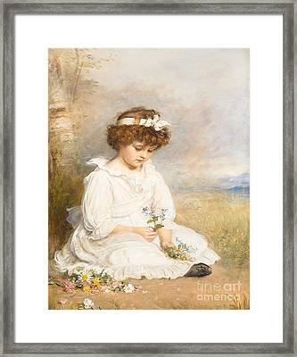 Darling Framed Print by Sir John Everett Millais
