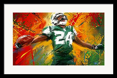 Cornerback Framed Prints