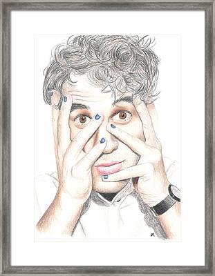 Darren Criss Hands Framed Print