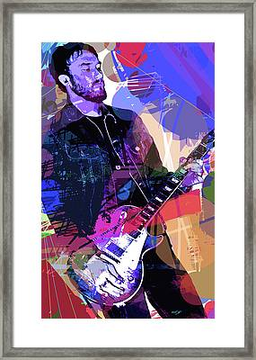 Darren Glover Les Paul Gibson Framed Print by David Lloyd Glover