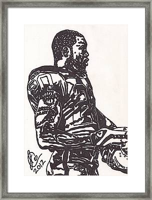 Framed Print featuring the drawing Darren Mcfadden 1 by Jeremiah Colley