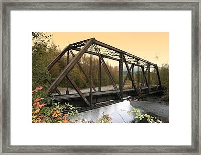 Darrington Bridge Br-6002 Framed Print by Mary Gaines