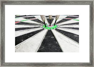 Dartboard Framed Print