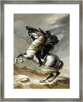 Darth Bonaparte Framed Print