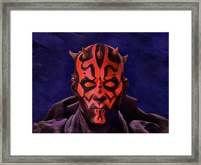 Darth Maul Dark Lord Of The Sith Framed Print