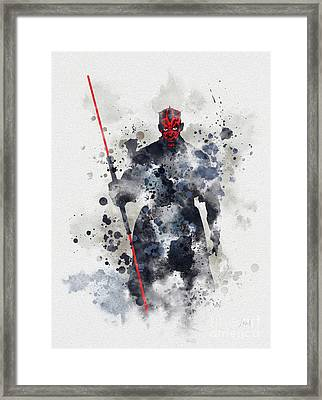 Darth Maul Framed Print by Rebecca Jenkins
