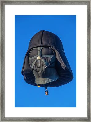 Darth Vader Helmet Hot Air Balloon Framed Print