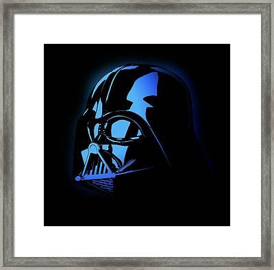 Darth Vader Invader Star Wars Framed Print by Deadly Swag