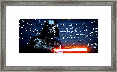 Darth Vader Framed Print by Mitch Boyce
