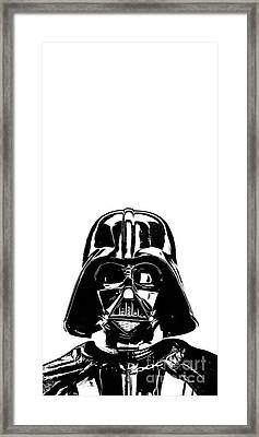 Darth Vader Painting Framed Print by Edward Fielding