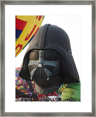 Darth Vader Framed Print by Rick Mosher