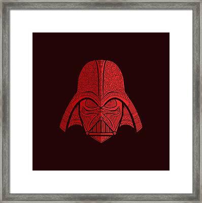 Darth Vader - Star Wars Art - Red 02 Framed Print