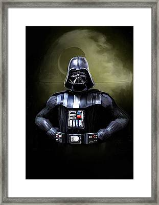 Darth Vader Star Wars  Framed Print by Michael Greenaway