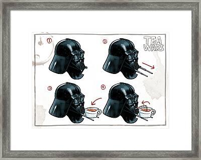 Darth Vader Tea Drinking Star Wars Framed Print