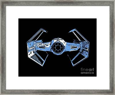 Darth Vaders Tie Figher Advanced X1 Tee Framed Print by Edward Fielding