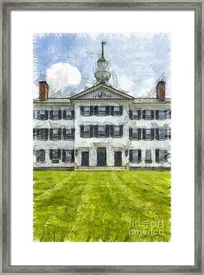 Dartmouth College Hanover New Hampshire Pencil Framed Print by Edward Fielding