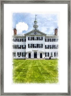 Dartmouth Hall Dartmouth College Framed Print by Edward Fielding