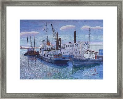 Dartmouth Marine Slips Framed Print