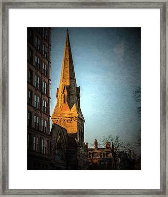 Dartmouth Street In Boston Framed Print