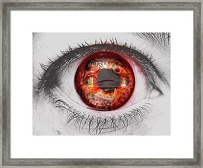 Daruma Eye Framed Print by Pamela Larson