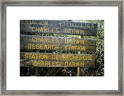 Darwin Center Directions Framed Print