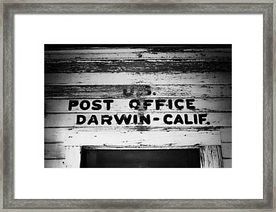 Darwin Post Office Framed Print