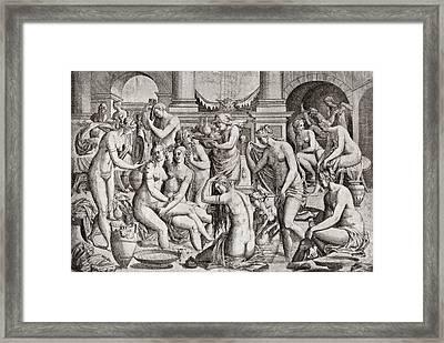 Das Frauenbad Framed Print by Eduard Fuchs