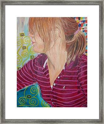 Framed Print featuring the painting Das Girl by Kevin Callahan