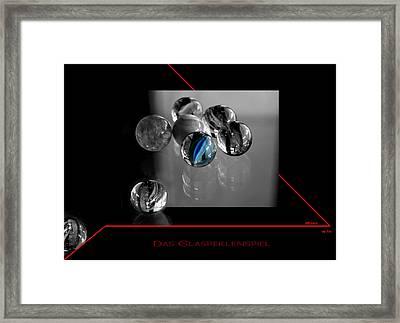 Framed Print featuring the photograph Das Glasperlenspiel by Martina  Rathgens