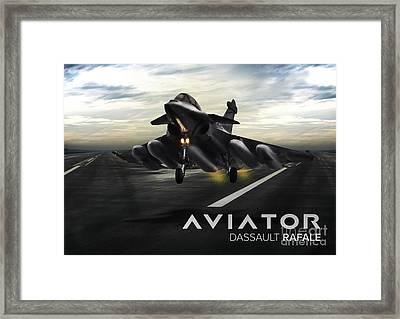 Dasault Rafale Fighter Jet Framed Print by Fernando Miranda
