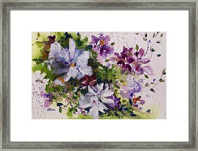 Dash Of White Framed Print