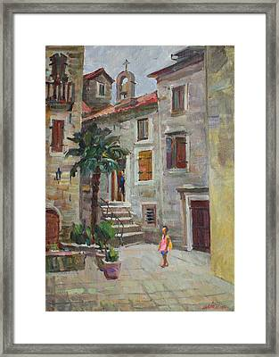 Dasha In The Old Town Framed Print