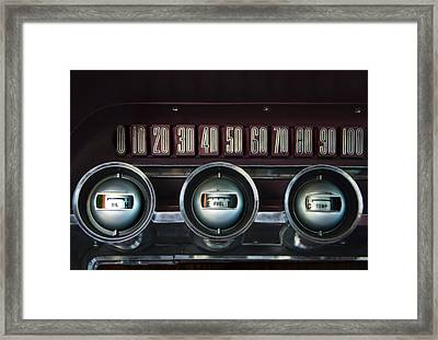 Dashboard Detail -1966 Ford Thunderbird Framed Print by Mitch Spence