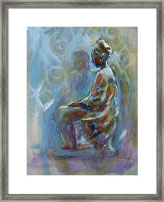 Framed Print featuring the painting Dashiki by Gertrude Palmer