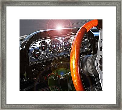 Dashing Framed Print by David and Lynn Keller