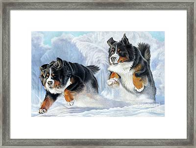 Framed Print featuring the painting Dashing Through The Snow by Donna Mulley